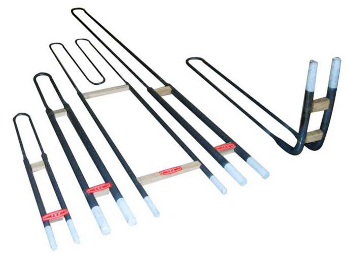 High Purity Mosi2 Heating Elements , 1700 °C / 1800 °C Moly Disilicide Heating Elements Rod