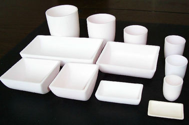 High Purity Alumina Ceramic Crucible , Multi Capacity Alumina Crucible Boat